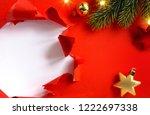 design holidays greeting card... | Shutterstock . vector #1222697338