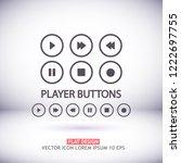media vector icon | Shutterstock .eps vector #1222697755