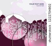 city background  business... | Shutterstock .eps vector #1222704802