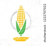 organic sweet corn on the cob... | Shutterstock .eps vector #1222707022