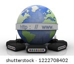 3d rendering transmitter wifi | Shutterstock . vector #1222708402