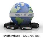 3d rendering transmitter wifi | Shutterstock . vector #1222708408