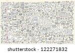 notebook doodle design elements ... | Shutterstock .eps vector #122271832