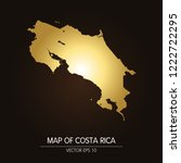 gold map costa rica map on a... | Shutterstock .eps vector #1222722295