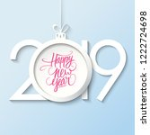 2019 happy new year greeting... | Shutterstock .eps vector #1222724698