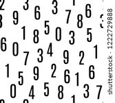 numbers shapes seamless pattern ...   Shutterstock .eps vector #1222729888