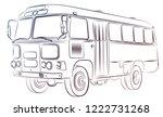the sketch of the big passenger ... | Shutterstock . vector #1222731268