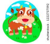 vector illustration of a cute... | Shutterstock .eps vector #1222737592