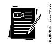 movie scripts glyph icon.... | Shutterstock .eps vector #1222744312