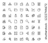 financial icon set. collection... | Shutterstock .eps vector #1222744672