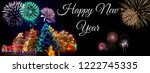 an illustration banner of happy ... | Shutterstock . vector #1222745335