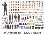 repairman or serviceman... | Shutterstock .eps vector #1222748305