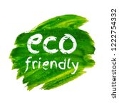 green blot eco friendly | Shutterstock . vector #1222754332