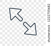 diagonal arrow concept vector...
