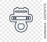 pad concept vector linear icon... | Shutterstock .eps vector #1222767172