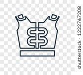 shoulder pad concept vector... | Shutterstock .eps vector #1222767208