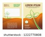 environmental flyer   brochure... | Shutterstock .eps vector #1222770808