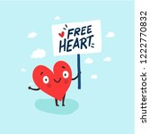 cute single heart looking for a ... | Shutterstock .eps vector #1222770832