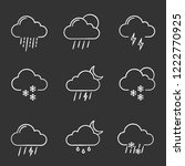 weather forecast chalk icons... | Shutterstock .eps vector #1222770925