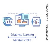distance learning concept icon. ...   Shutterstock .eps vector #1222770988
