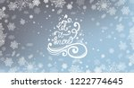white snowflakes with hand...   Shutterstock .eps vector #1222774645