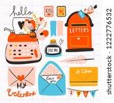 love post office. various...   Shutterstock .eps vector #1222776532