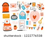 love post office. many various...   Shutterstock .eps vector #1222776538