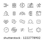 simple set of vector line icons ... | Shutterstock .eps vector #1222778902