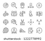 set of job seach icons  such as ... | Shutterstock .eps vector #1222778992