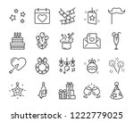 set of celebration icons  such... | Shutterstock .eps vector #1222779025