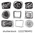 hand drawn lines on isolated...   Shutterstock .eps vector #1222780492