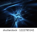 abstract 3d fractal background  ... | Shutterstock . vector #1222785142