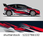 rally car wrap design. graphic... | Shutterstock .eps vector #1222786132