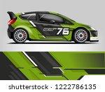 rally car wrap design. graphic... | Shutterstock .eps vector #1222786135