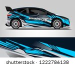 rally car wrap design. graphic...   Shutterstock .eps vector #1222786138