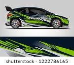 rally car wrap design. graphic... | Shutterstock .eps vector #1222786165