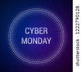 cyber monday sale vector banner ...   Shutterstock .eps vector #1222790128