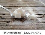 powdered sugar and sugar cubes... | Shutterstock . vector #1222797142