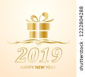 2019 happy new year. greeting ...   Shutterstock .eps vector #1222804288