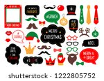 christmas photo booth props.... | Shutterstock .eps vector #1222805752