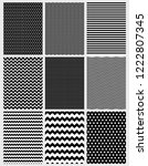 cute abstract vector patterns... | Shutterstock .eps vector #1222807345