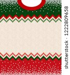 ugly sweater merry christmas... | Shutterstock .eps vector #1222809658