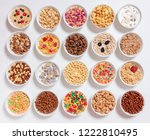 Set Of Different Cereals With...