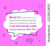 vector quote. beauty as we feel ...   Shutterstock .eps vector #1222813852