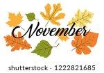 november word. hand lettering... | Shutterstock .eps vector #1222821685