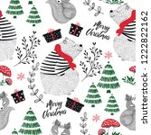 christmas greeting card with...   Shutterstock .eps vector #1222822162
