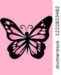 beautiful pink butterfly insect ... | Shutterstock .eps vector #1222823482