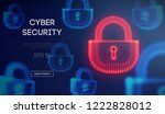 coputer internet cyber security ... | Shutterstock .eps vector #1222828012