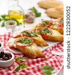 bruschetta  grilled slices of... | Shutterstock . vector #1222830052