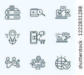 optimization icons line style... | Shutterstock . vector #1222831288